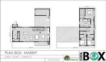 Plan 2d maison coolbox - massif
