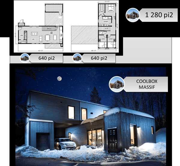 Plan maison coolbox - massif