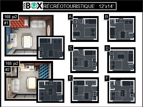 plan de Coolbox récréative 12 x 14 pi