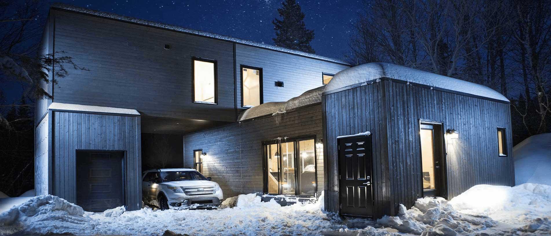 Coolbox gris nuit hiver